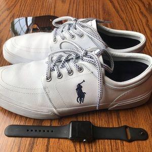 Polo Ralph Lauren Faxon Low White Sneakers Size 11